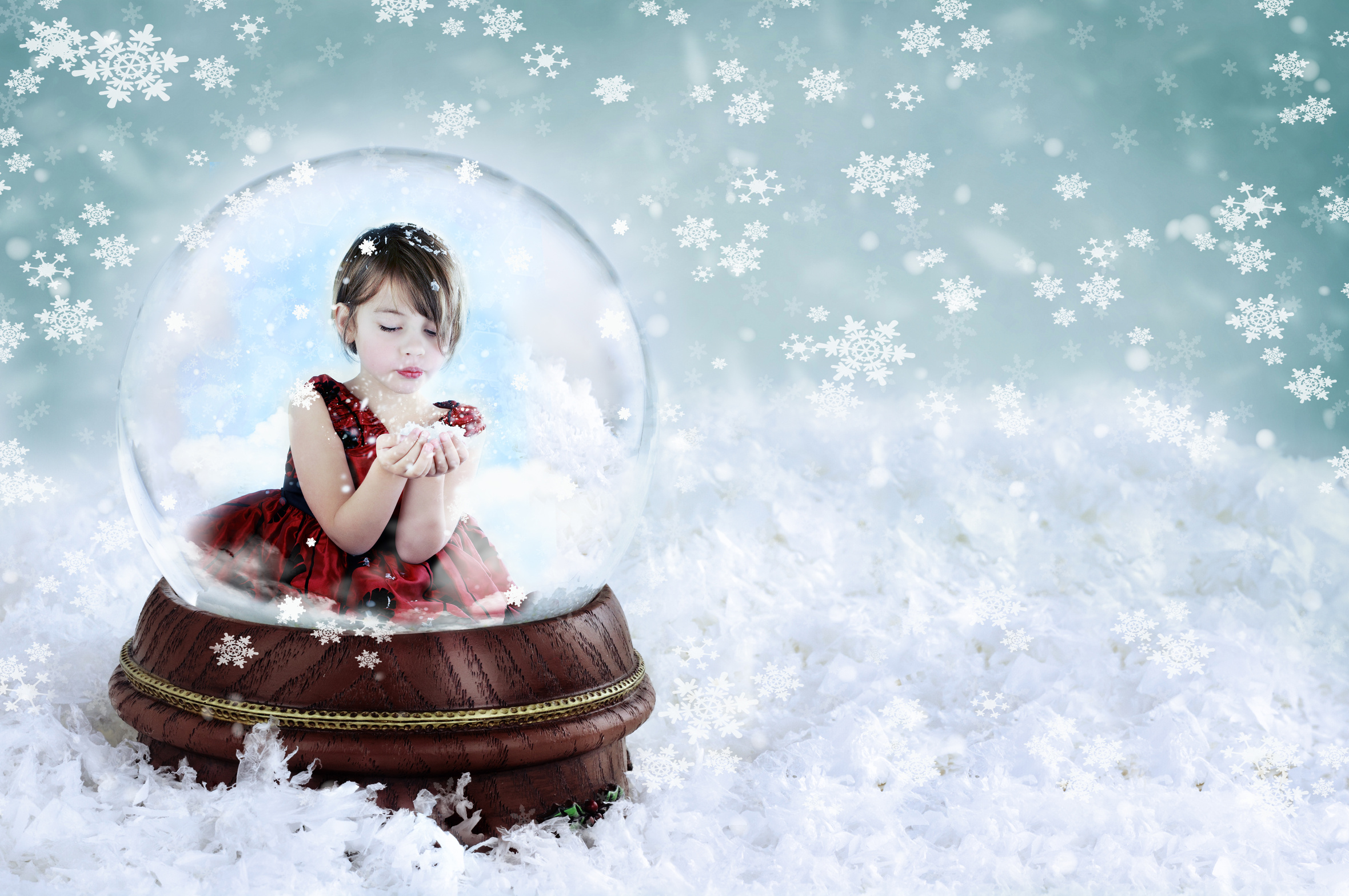boule neige - Girl in Snow Globe